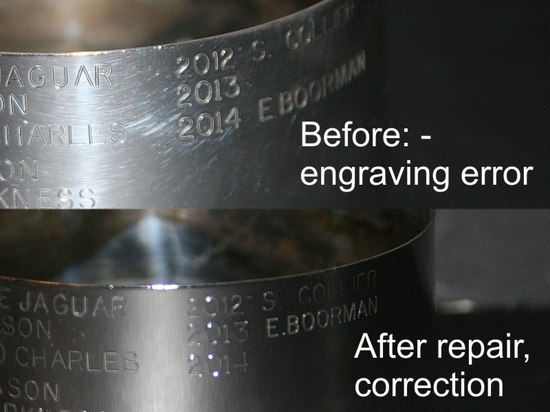 engraving error repair
